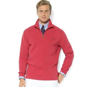 Red Polo Ralph Lauren Pullover Quarter Zip Sweater